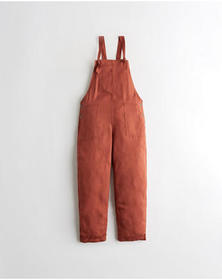 Hollister Rayon Overalls, ORANGE