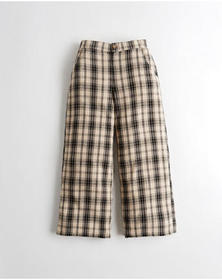 Hollister Ultra High-Rise Linen-Blend Culottes, BR