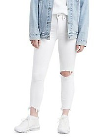 Levi's 721 Distressed High-Rise Skinny Jeans ICED
