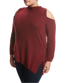 Zero Degrees Celsius Off-the-Shoulder Sweater Wine