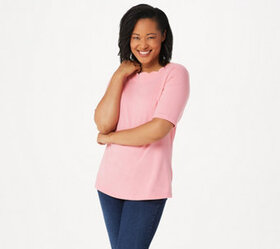 """""""As Is"""" Denim & Co. Essentials Perfect Jersey Top"""