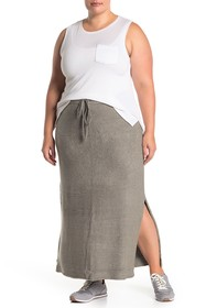 Barefoot Dreams Side Vent Knit Maxi Skirt (Plus Si