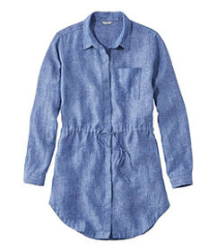 LL Bean Premium Washable Linen Drawstring Tunic