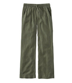 LL Bean Premium Washable Linen Pull-On Pants