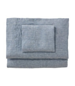 LL Bean Sunwashed Linen Sheet Collection
