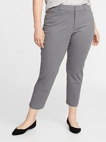 Mid-Rise Secret-Slim Pockets Plus-Size Pixie Chino