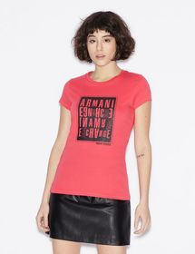 Armani T-SHIRT WITH LOGO LETTERING