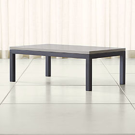 Crate Barrel Parsons Grey Solid Surface Top/ Dark
