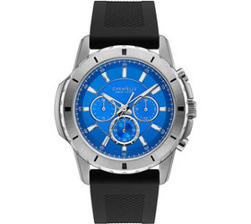 Caravelle by Bulova Men's Silicone Strap Blue Dial