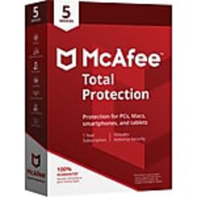 McAfee® Total Protection for 5 Devices (1-5 Users)