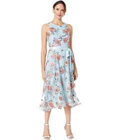 Tahari by ASL Sleeveless Embroidered Halter Dress