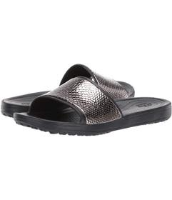 Crocs Sloane Metal Text Slide