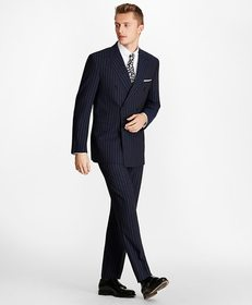 Brooks Brothers Regent Fit Double-Breasted Pinstri