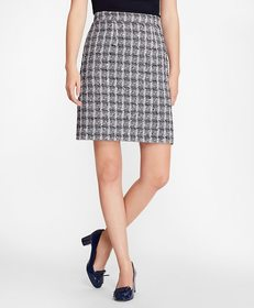 Brooks Brothers Boucle A-Line Skirt