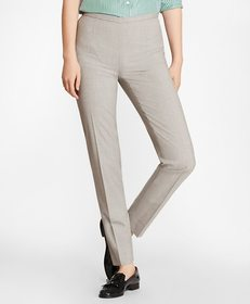 Brooks Brothers Petite Stretch-Wool Ankle Pants