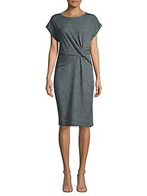 JONES NEW YORK Front Twist T-Shirt Dress INDIGO WA