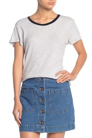 Splendid Scoop Neck Slub Knit T-Shirt