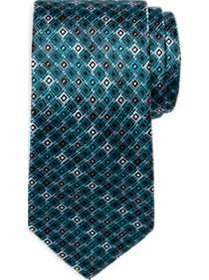 Awearness Kenneth Cole Teal & Gray Narrow Tie