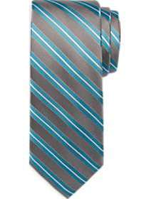 Awearness Kenneth Cole Teal & Gray Stripe Narrow T