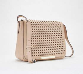 """As Is"" Vince Camuto Leather Flap Crossbody Bag -"