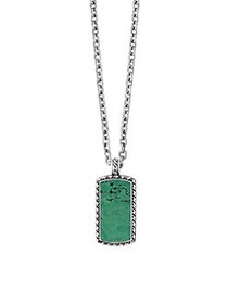 Effy 925 Sterling Silver & Turquoise Pendant Neckl