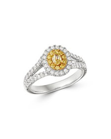 Bloomingdale's - Oval Yellow & White Diamond Ring