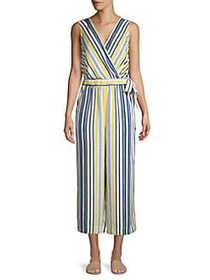 JONES NEW YORK Sleeveless Striped Jumpsuit BLUEBEL