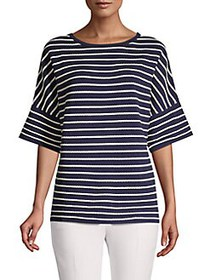 Anne Klein Striped Knit Top ECLIPSE