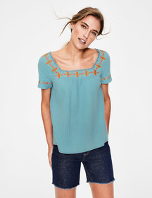Boden Clemmie Embroidered Top