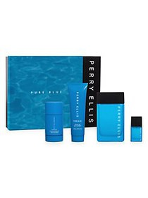Perry Ellis Pure Blue 4-Piece Frangrance Gift Set
