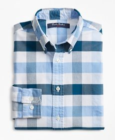 Brooks Brothers Boys Cotton Oxford Bold Gingham Sp