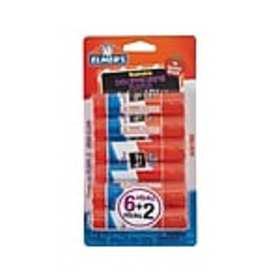 Elmers School Permanent Glue Sticks, 0.21 Oz., 8/P