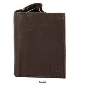 Mens Stone Mountain Grain Leather RFID Trifold Wal