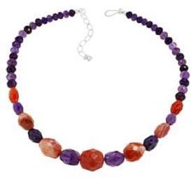 Jay King Sterling Silver Orange Chalcedony and Ame