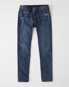 Super Skinny Jeans, MEDIUM RIPPED WASH