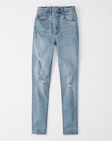 Ultra High Rise Super Skinny Jeans, LIGHT RIPPED W