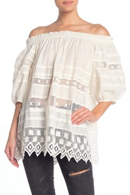 Free People Sounds of Summer Off the Shoulder Tuni