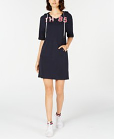 Tommy Hilfiger Hooded Sweatshirt Dress, Created fo