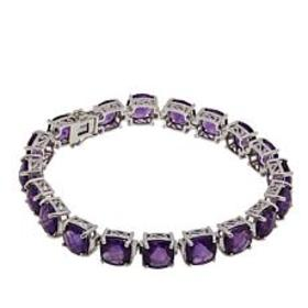 Colleen Lopez Cushion-Cut African Amethyst Line Br