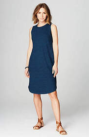 Pure Jill Indigo Shirttail Dress