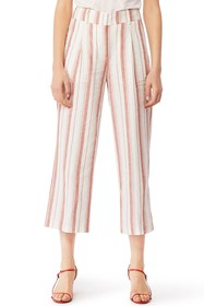 Habitual Rae Mid Rise Wide Leg Crop Pants