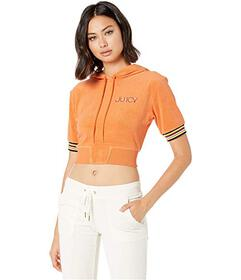 Juicy Couture Juicy Microterry Track Crop Pullover