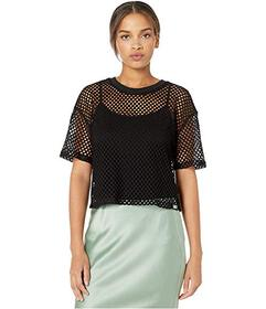 Juicy Couture Mesh Knit Short Sleeve Boxy Tee