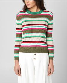 Juicy Couture LUREX MULTISTRIPE PULLOVER SWEATER