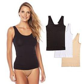 """As Is"" Yummie 3-pack Seamless 2-Way Shaping Tank"