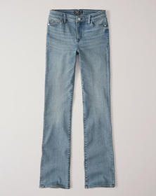 Low Rise Bootcut Jeans, Light Wash