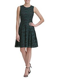 Tommy Hilfiger Woodstock Lace Fit-&-Flare Dress FO