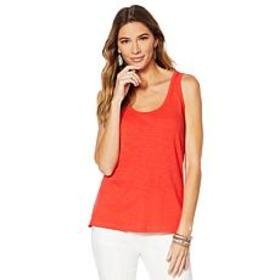 """As Is"" G by Giuliana Slub Knit Tank Top - Fashion"