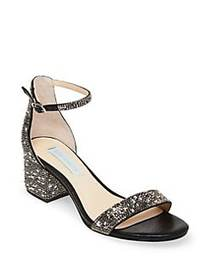 Betsey Johnson Mari Embellished Sandals BLACK