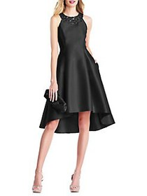 Adrianna Papell Beaded Halterneck Fit-&-Flare Dres